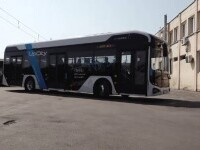 Primul autobuz electric 100% românesc, produs la Baia Mare. A fost deja testat în patru orașe din țară