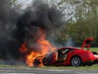Soferul Ferrari-ului distrus de foc pe DN 1 este fiul unui fost cioban