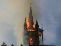 Rugaciune la un un an de la incendiul care a mistuit biserica Evanghelica