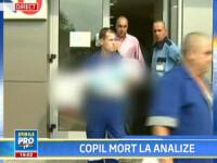 Eroare umana? Un copil de 3 ani a murit din cauza unui RMN