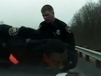 Disperat, un hot a MANCAT o proba chiar sub ochii politistilor! VIDEO