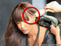 Naomi Campbell a chelit! Poarta peruca