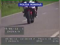 VIDEO. Motociclist prins cu 243 km/h, in apropiere de statiunea Neptun