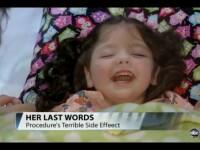 Video. Ultimele sunete ale fetitei care a trebuit sa isi piarda vocea definitiv pentru a putea trai