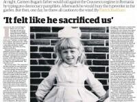 Povestea unei familii de romani vanate de Securitatea lui Ceausescu, pe prima pagina din Guardian