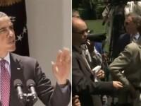 Video. Barack Obama si-a iesit din fire, dupa ce un jurnalist l-a intrerupt in timpul unui discurs
