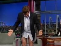 S-a dezbracat in direct la televizor. Reactia lui David Letterman, geniala. VIDEO
