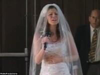 VIDEO. Cea mai inedita ceremonie de nunta. Cum isi arata aceasta mireasa dragostea pentru sotul ei