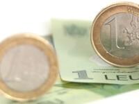 Nou record al cursului BNR. Un euro a crescut la 4,5535 lei, maximul din octombrie 2012
