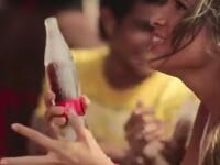 Coca-Cola a lansat sticla facuta complet din gheata, care se topeste in timp ce bei. VIDEO