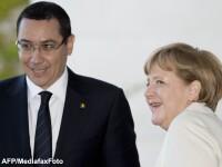 Intalnirea lui Ponta cu Merkel: Criza politica a generat pierderi, razboiul politic s-a oprit acum
