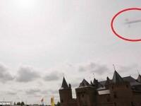 Ce a fotografiat o femeie din Olanda, deasupra unui castel.