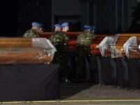 Zi de DOLIU NATIONAL. Trupurile celor doi soti din Timisoara, morti in accident, au fost aduse acasa
