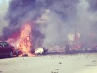Un avion militar s-a prabusit peste un cartier, in California. Nicio persoana nu a fost ranita