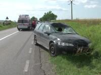 Scene cumplite in apropiere de Tulcea. Un biciclist a murit dupa ce a intrat prin parbrizul masinii care l-a lovit in plin