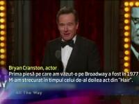 Gala Premiilor Tony 2014. Bryan Cranston a plecat cu premiul pentru cel mai bun actor in anul sau de debut pe Broadway