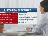 51% dintre actiunile Electrica vor fi listate la Bursa de la Bucuresti. Cat te costa sa devii actionar la stat