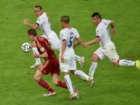Campionatul Mondial de Fotbal 2014. Campioana mondiala en-titre Spania, eliminata in grupe la CM, Olanda si Chile in optimi