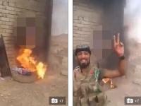 Terorist al Statului Islamic, capturat de irakieni, ars de viu. Filmarea care circula pe retelele de socializare