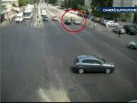 Accident FILMAT in Braila. O tanara de 18 ani este lovita de o masina, in timp de traverseaza pe