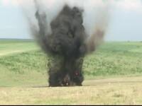 Explozie puternica langa Galati. Peste 130 de bombe, grenade si proiectile din al Doilea Razboi Mondial au fost detonate