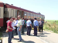 Grav accident de tren in judetul Timis. Noua persoane au fost ranite, iar mecanicul si-a salvat viata in ultima clipa