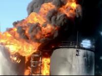 Incendiu violent la un depozit petrolifer de langa Kiev. Cel putin patru persoane au murit