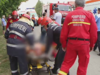 Grav accident rutier in Timis. Sapte persoane, printre care 2 copii, au fost ranite dupa coliziunea dintre doua masini
