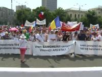 Persoanele care au credite in franci elvetieni au protestat in fata Guvernului. Ce numultumiri au dupa negocierile cu BNR