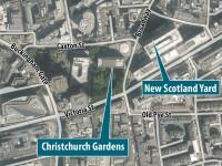 Daily Mail: Mai multi romani si-au instalat o tabara intr-un parc, peste drum de Scotland Yard.