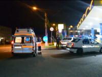 Sofer dezlantuit intr-o benzinarie din Cluj. Si-a batut mama, un angajat si un politist, apoi a distrus 5 masini