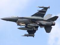 Un avion de vanatoare F-16 s-a prabusit peste o conducta de gaz din Arizona si a provocat un incendiu urias