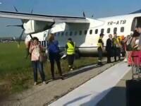 Un avion TAROM a ratat aterizarea pe aeroportul de la Chisinau si a iesit de pe pista. Reactia companiei. VIDEO