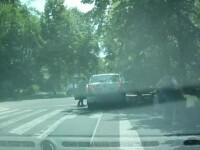 Fetita lovita pe trecerea de pietoni de un taximetrist de 65 de ani, in Galati. Accidentul a fost filmat de un sofer