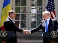 Klaus Iohannis, vizita istorica la Casa Alba. Donald Trump: Stim tot ce se intampla in Romania. Va castiga lupta cu coruptia