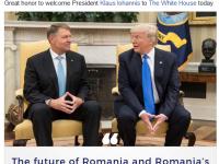 Mesajul publicat pe Facebook de Donald Trump dupa intalnirea cu Klaus Iohannis: