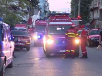 Momente de panica printre locatarii unui bloc din cartierul Ferentari, dupa ce o garsoniera a fost cuprinsa de flacari
