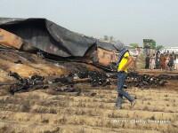 Nou bilant al incendiului din Pakistan: 148 de morti. Victimele adunau petrol deversat din cisterna cu tigarile aprinse VIDEO