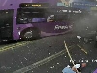 Un autobuz scapat de sub control a semanat panica pe strazile din Marea Britanie. Victima:
