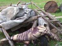 Accident stupid in Prahova. Un barbat a murit in bratele fiului sau, dupa ce a cazut din caruta