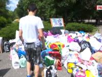 Sute de donații pentru copiii mai puțin norocoși, făcute de alți copii în București