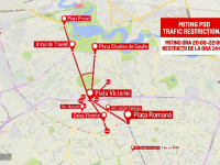 13 evenimente în week-end, în Bucureşti. Măsurile luate pentru mitingul PSD și restricțiile rutiere