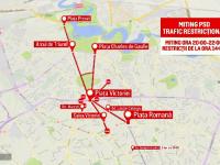 Restricţii de circulaţie în Capitală. Lista marșurilor și evenimentelor care au loc astăzi