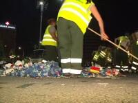 Mitingul PSD a lăsat Piaţa Victoriei plină de gunoaie. Unii n-au știut de ce au participat. Reportaj