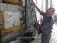 Ce au descoperit polițiștii de frontieră în camionul unui șofer macedonean