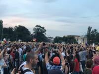 Urarea protestatarilor din Piața Victoriei pentru Dragnea, după aflarea hotărârii ÎCCJ