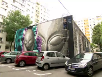 Bucureștiul capătă culoare prin patru picturi murale, de dimensiuni impresionante