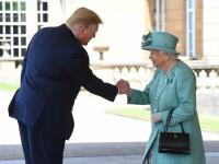 Donald și Melania Trump s-au întâlnit cu Regina Elisabeta, la Palatul Buckingham