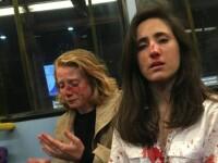Reacția femeilor bătute brutal pentru că nu s-au sărutat într-un autobuz. Atacatorii, prinși
