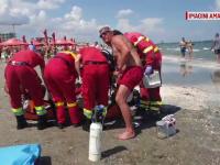 Imagini dramatice la Mamaia. Bărbat adus la mal în ultima clipă, după ce i s-a făcut rău în apă